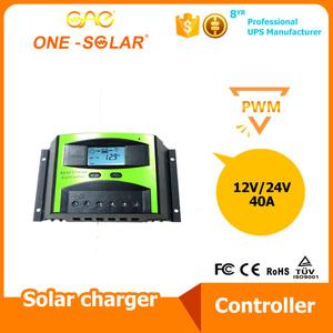40A太阳能控制器带数显高转换率12V24V自动识别温控测试头