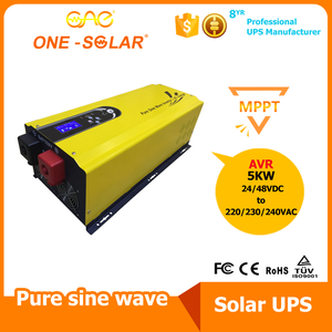 GSI 5000W 24V 工频纯正弦波 逆控一体机 内置MPPT太阳能充电控制器